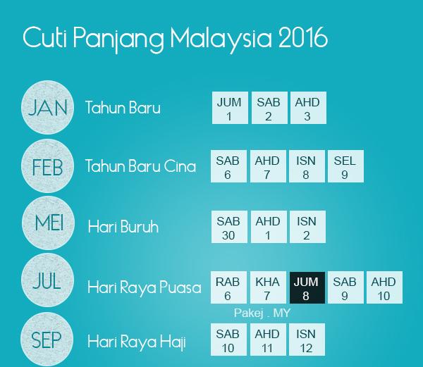 Cuti Panjang Malaysia 2016