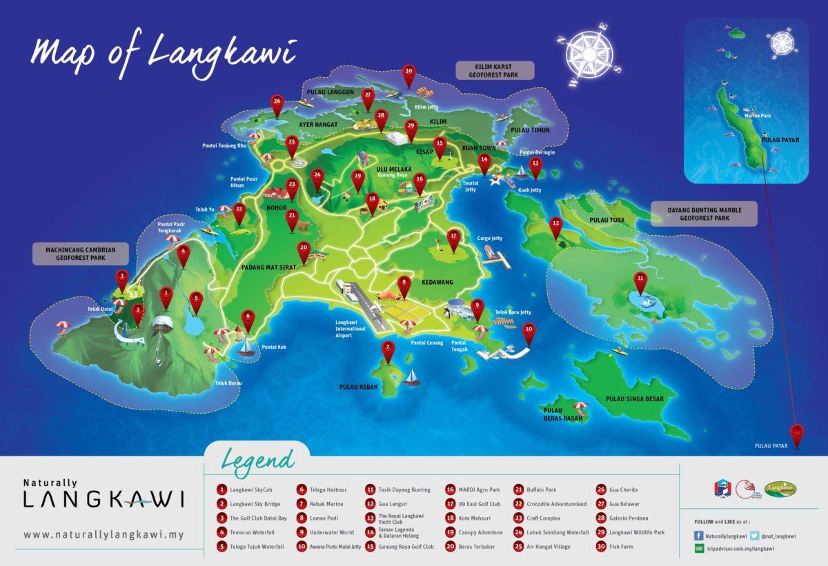 Maps Langkawi Kedah – Lokasi Menarik