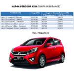Harga Perodua AXIA 2018 SST