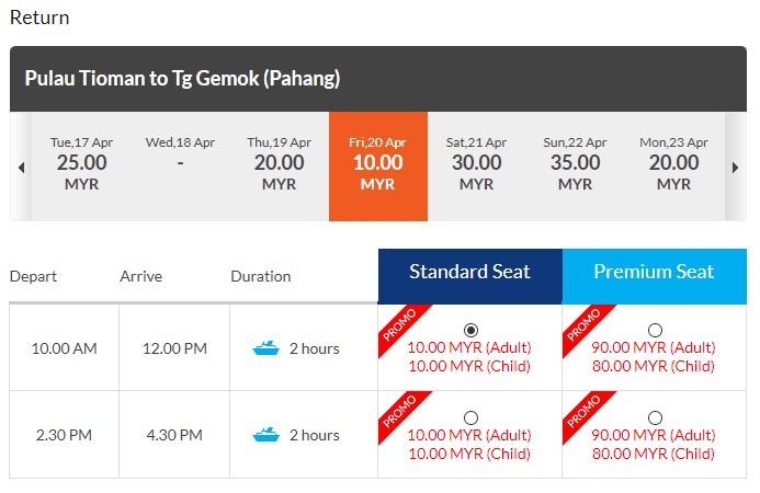 Harga Tiket Feri Ke Pulau Tioman 2020 Blog Pakej My