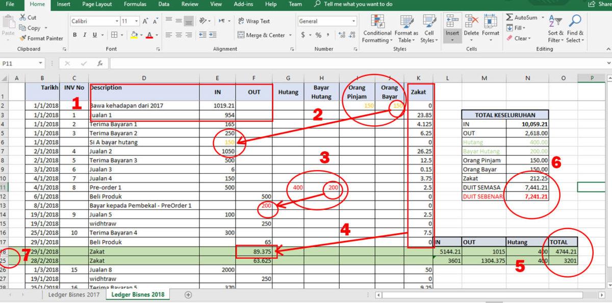 Contoh Pengurusan Kewangan Perniagaan Guna Excel