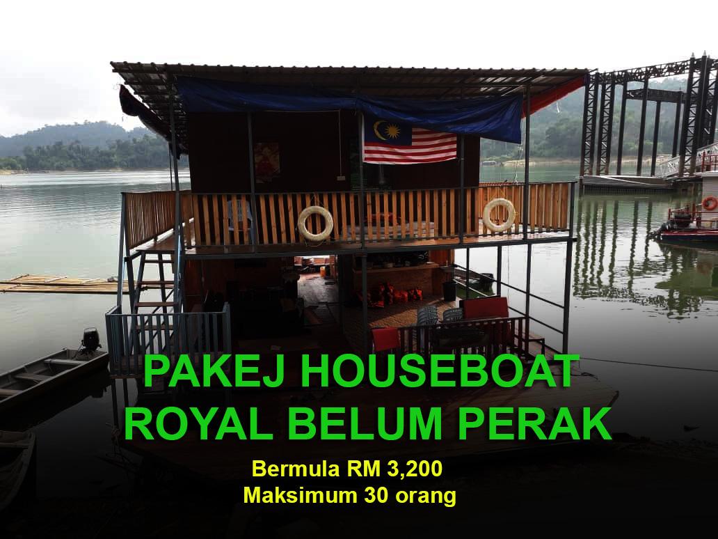 Pakej Houseboat Royal Belum 2019