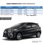 Harga Perodua MYVI 2019 baru
