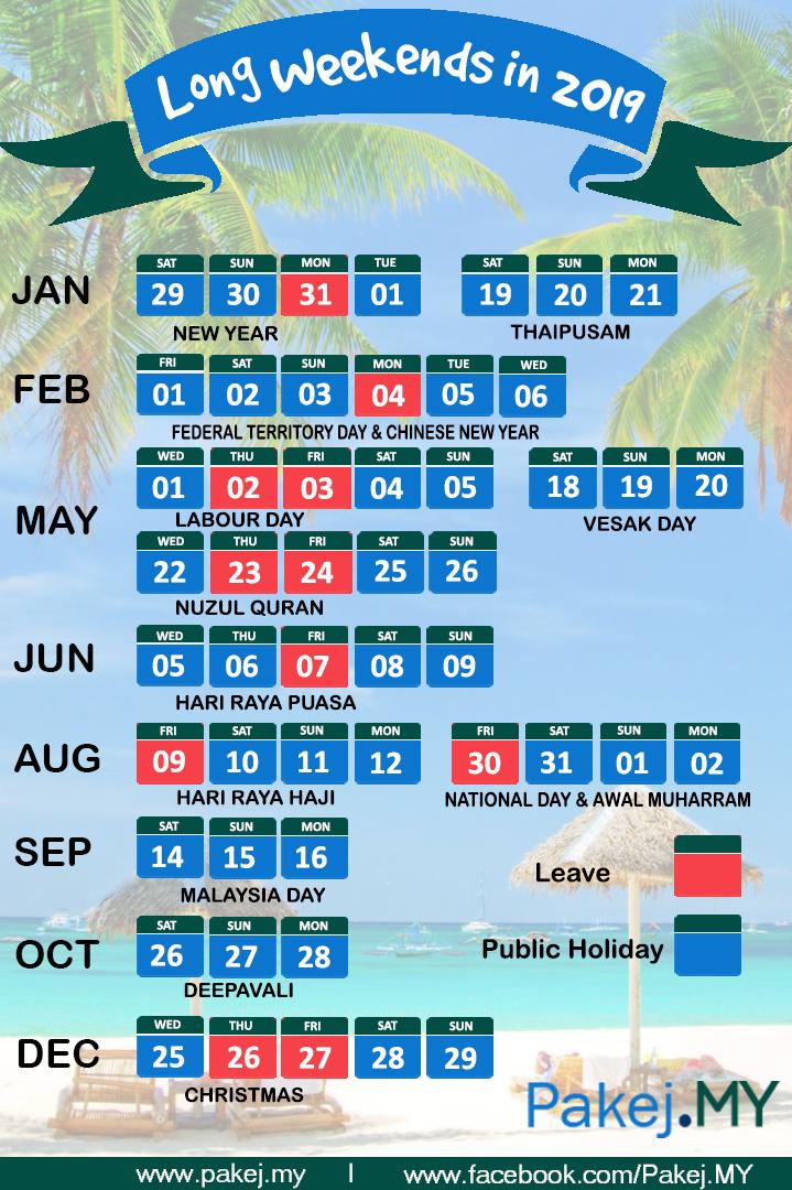 Cuti 2019 – Kalendar Cuti Umum