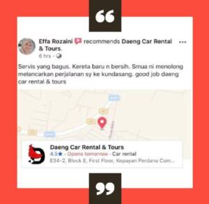 Review Pelanggan Kereta Sewa Kota kinabalu 4