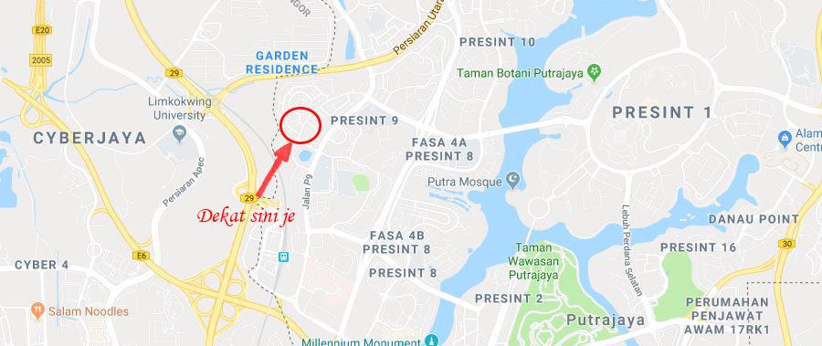 Lokasi Wan Homestay Putrajaya Persint 9