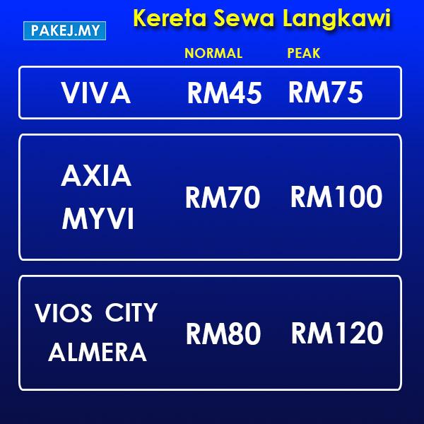 Kereta Sewa Langkawi - Viva Axia Myvi Vios City Almera